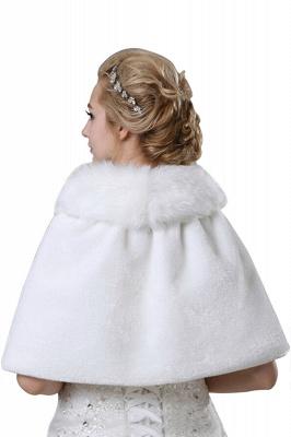 Elegant Warm Tulle White Half-Sleeves Casual Bride Wedding Wraps_4