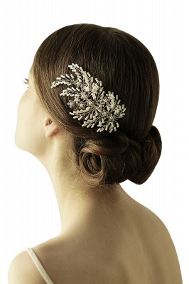 glamourous Alloy Imitation Pearls Special Occasion Combs-Barrettes Headpiece with Rhinestone_6