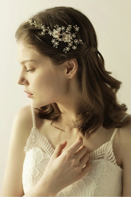 Beautiful Alloy&Rhinestone Special Occasion Headbands Headpiece with Imitation Pearls_9