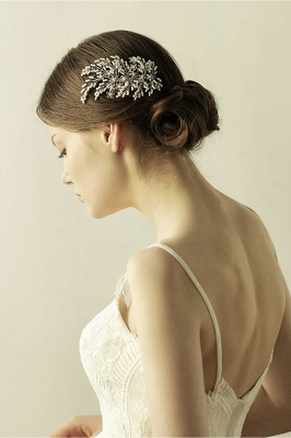 glamourous Alloy Imitation Pearls Special Occasion Combs-Barrettes Headpiece with Rhinestone_7
