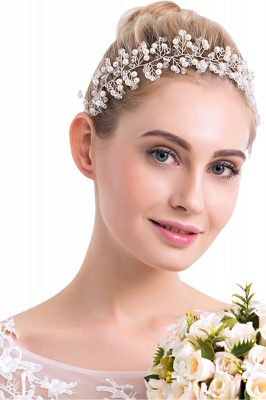 glamourous Plastic&Alloy Crystal Special Occasion Hairpins Headpiece with Imitation Pearls