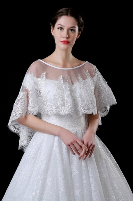 Cheap Tulle /Lace White Sleeveless Wedding Wraps with Appliques