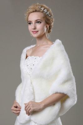 Luxury Warm Tulle White Half-Sleeves Casual Bride Wedding Wraps