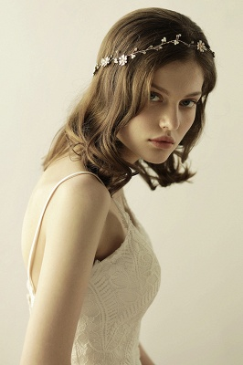 Floral  Alloy Party Headbands Headpiece with Rhinestone_7