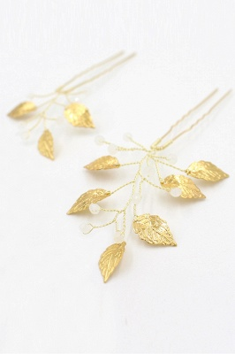 Beautiful Alloy Daily Wear Hairpins Headpiece with Imitation Pearls_1