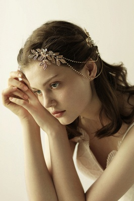 Lovely Alloy&Rhinestone Party Combs-Barrettes Headpiece with Imitation Pearls_8