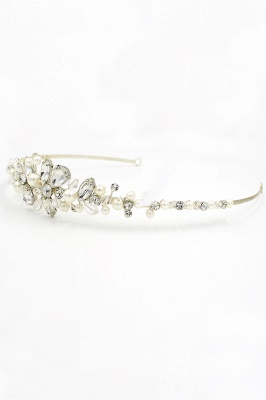 Elegant Alloy Imitation Pearls Special Occasion &Wedding Hairpins Headpiece with Crystal Rhinestone_11