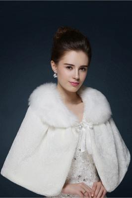 Warm Cute Tulle White Half-Sleeves Casual Bride Wedding Wraps
