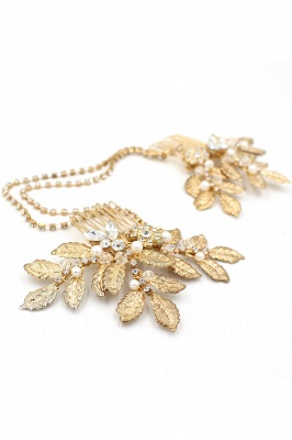 Lovely Alloy&Rhinestone Party Combs-Barrettes Headpiece with Imitation Pearls_9