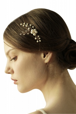 Cute Alloy Daily Wear Hairpins Headpiece with Imitation Pearls_9