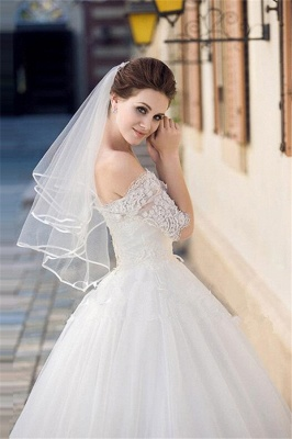 Floral Cute Tulle Lace Pencil Edge Wedding Gloves with Comb_5