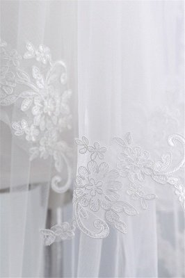Fashion Tulle Lace Lace Applique Edge 1.7*1.5M Wedding Gloves_6