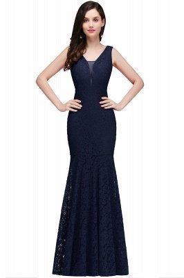 CLARISSA  Mermaid Floor-length Lace Red Prom Dress_3