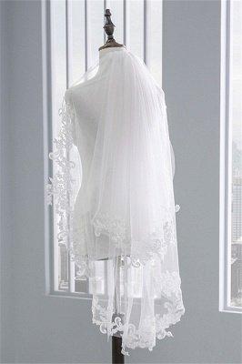 Fashion Tulle Lace Lace Applique Edge 1.7*1.5M Wedding Gloves_4