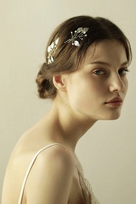 Beautiful Alloy Daily Wear Hairpins Headpiece with Imitation Pearls_5