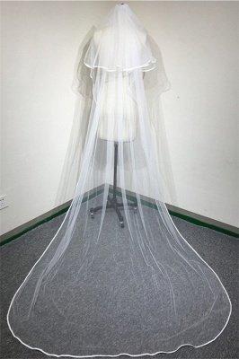 Guantes lindos florales lindos de la boda del borde de la cinta 1.5 * 1.4M del cordón de Tulle con el peine_3