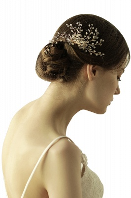 glamourous Alloy&Rhinestone Daily Wear Combs-Barrettes Headpiece with Crystal_5
