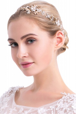 Beautiful Alloy &Imitation Pearls Special Occasion Hairpins Headpiece with Rhinestone