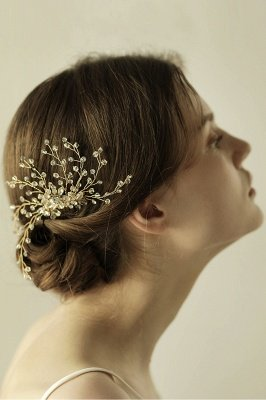 glamourous Alloy&Rhinestone Daily Wear Combs-Barrettes Headpiece with Crystal_8