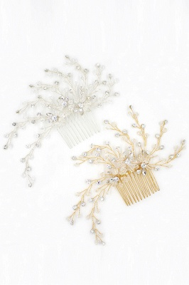 glamourous Alloy&Rhinestone Daily Wear Combs-Barrettes Headpiece with Crystal_9