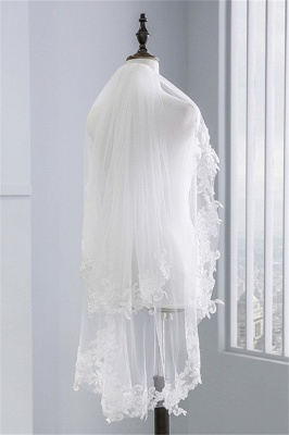 Fashion Tulle Lace Lace Applique Edge 1.7*1.5M Wedding Gloves_1