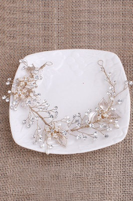 glamourous Alloy &Imitation Pearls Special Occasion&Party Headbands Headpiece with Rhinestone_7