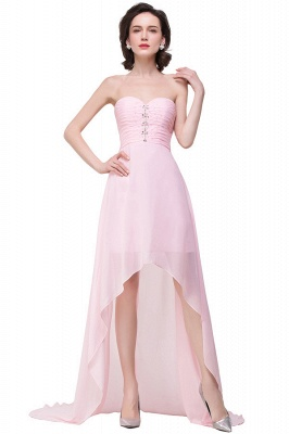 HALEY | A-line Sweetheart Hi-Lo Ruffle Pink Chiffon Bridesmaid Dresses With Sequins_1