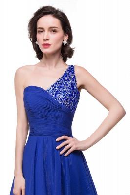 GRACELYN | A-line V-Neck Hi-lo One-shoulder Ruffle Chiffon Blue Prom Dresses With Crystal_6