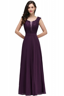 CORINNE | A-line Floor-length Lace Burgundy Elegant Prom Dress_2