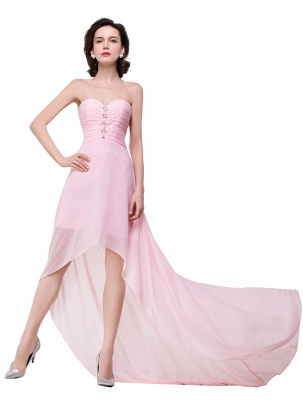HALEY | A-line Sweetheart Hi-Lo Ruffle Pink Chiffon Bridesmaid Dresses With Sequins_5