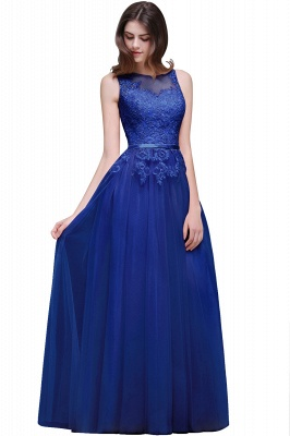 ATHENA | A-line Floor-Length Tulle Prom Dress With Lace_5