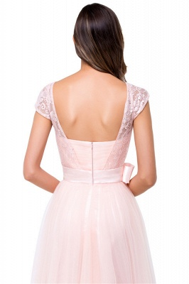 HAILEE | A-line Crew Floor-length Sashes Chiffon Bridesmaid Dresses with Applique_10