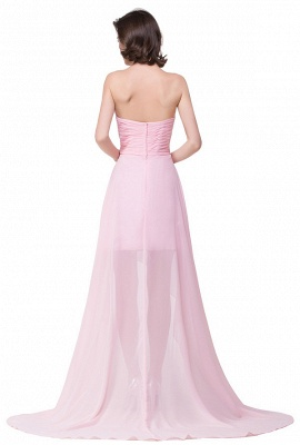HALEY | A-line Sweetheart Hi-Lo Ruffle Pink Chiffon Bridesmaid Dresses With Sequins_8