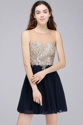 ALIANNA | Sheath Jewel Chiffon Short Homecoming Party Dresses With Applique_1