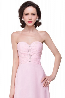 HALEY | A-line Sweetheart Hi-Lo Ruffle Pink Chiffon Bridesmaid Dresses With Sequins_3