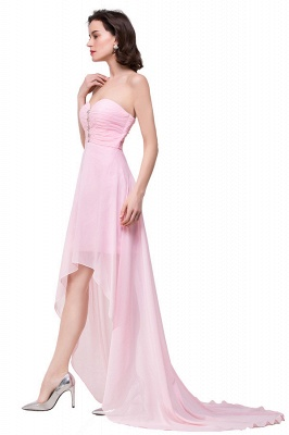 HALEY | A-line Sweetheart Hi-Lo Ruffle Pink Chiffon Bridesmaid Dresses With Sequins_6