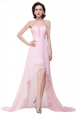 HALEY | A-line Sweetheart Hi-Lo Ruffle Pink Chiffon Bridesmaid Dresses With Sequins_4