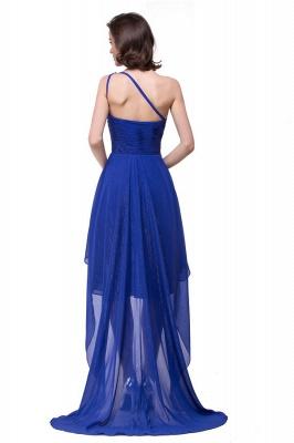 GRACELYN | A-line V-Neck Hi-lo One-shoulder Ruffle Chiffon Blue Prom Dresses With Crystal_8