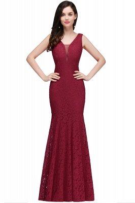 CLARISSA  Mermaid Floor-length Lace Red Prom Dress_1