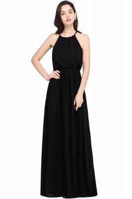 CHEYENNE   A-line Floor-length Chiffon Navy Blue Simple Prom Dress_5