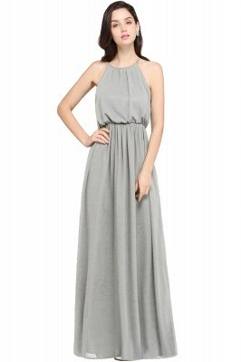CHEYENNE   A-line Floor-length Chiffon Navy Blue Simple Prom Dress_6