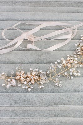 glamourous Alloy &Imitation Pearls Special Occasion&Party Headbands Headpiece with Rhinestone_4