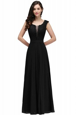 CORINNE   A-line Floor-length Lace Burgundy Elegant Prom Dress_5
