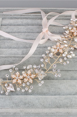 glamourous Alloy &Imitation Pearls Special Occasion&Party Headbands Headpiece with Rhinestone_3