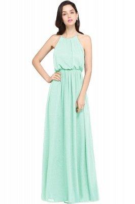 CHEYENNE   A-line Floor-length Chiffon Navy Blue Simple Prom Dress_7
