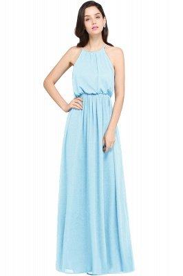 CHEYENNE   A-line Floor-length Chiffon Navy Blue Simple Prom Dress_4