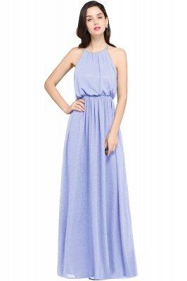 CHEYENNE   A-line Floor-length Chiffon Navy Blue Simple Prom Dress_3
