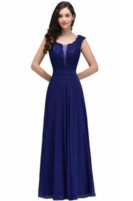 CORINNE   A-line Floor-length Lace Burgundy Elegant Prom Dress_3