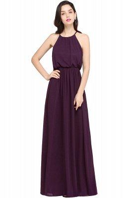 CHEYENNE   A-line Floor-length Chiffon Navy Blue Simple Prom Dress_2