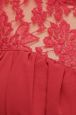 JADA   A-Line Crew Long Sleeveless Lace Chiffon Evening Dresses with Ruffles_6